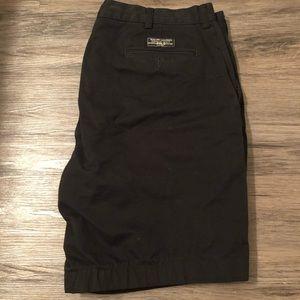 Men's Vintage Polo by Ralph Lauren Black shorts